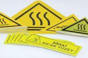 Dikkat Metal Etiket Uyarı Etiketi