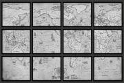 Eşsiz Dekoratif Haritalar