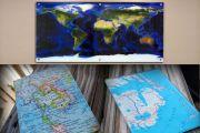 6mm Camdan Dekoratif Haritalar