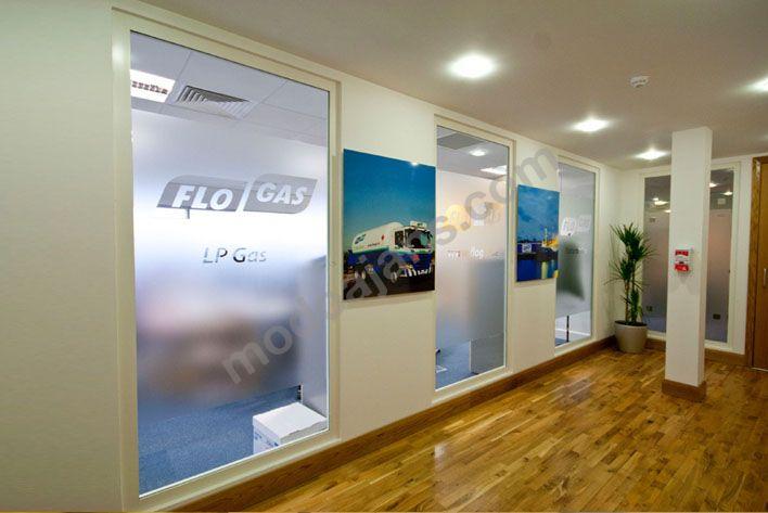 Flo Gaz Ofis Cam Filmi Baskı Uygulama