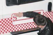 Araç Kapı Etiket / Logo Yapıştırma