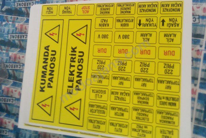 Pano Uyarı Etiketleri, Kabin Uyarı Etiketi